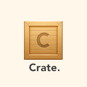Crate is to sharing files, what Dropbox is to storing them.
