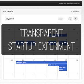"The Transparent Startup Experiment: A weekly look behind the scenes of ""Time Off"""